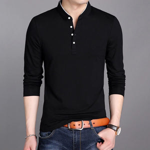 Open image in slideshow, Urban Fitted Mandarin-Collared Shirt