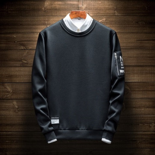 Contemporary Patched Casual Sweatshirt