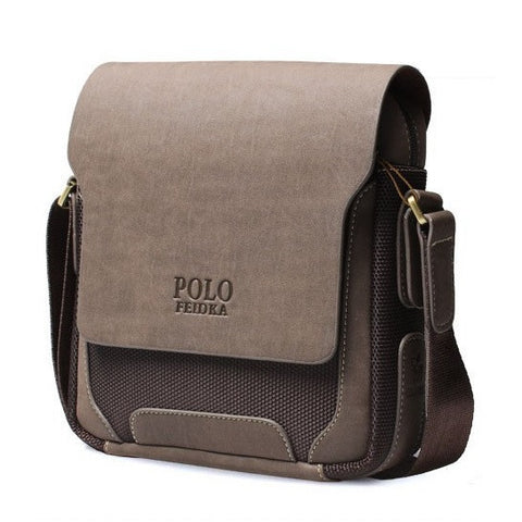 Contemporary Washed-Out Men's Shoulder Bag