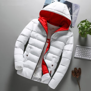 Open image in slideshow, Urban Contrast Hooded Parka Jacket