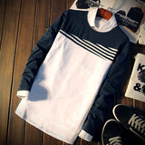 Contemporary Cross-Striped T-Shirt