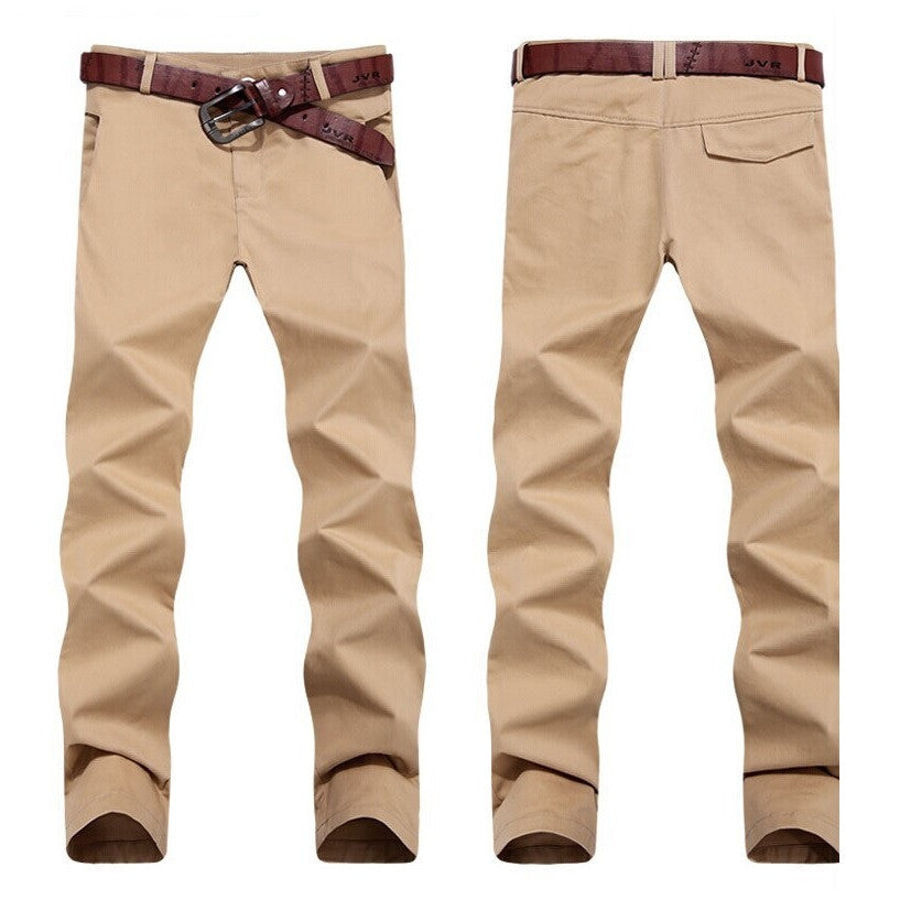 Casual Urban Trimmed Pencil Chinos