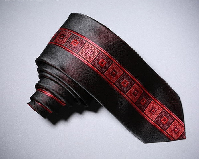Contemporary Squared Red Neck Tie