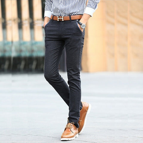 Checker-Trimmed Straight Urban Chinos