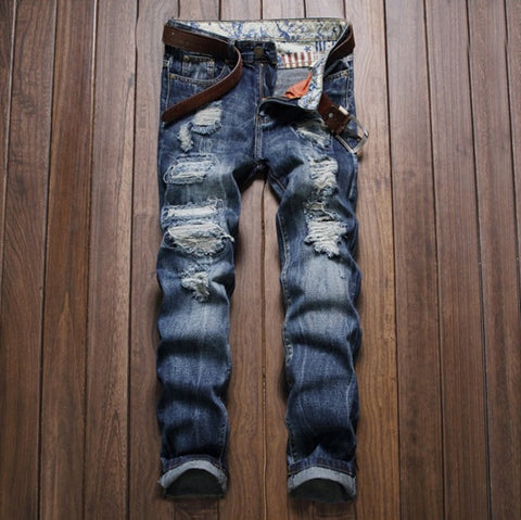Urban Textured Ripped Indy Jeans