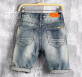 Urban Ripped Industrial Denim Shorts