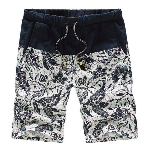 Tribal White Summer Casual Shorts