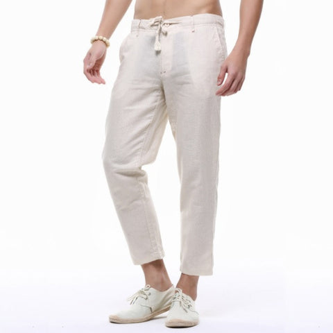 Contemporary New-Age Summer Linen Pants