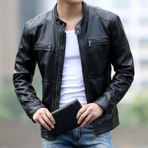 Open image in slideshow, Contemporary UrbanStox Luxe Leather Jacket