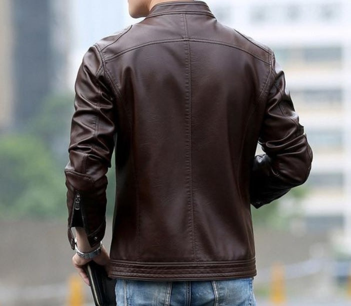 Contemporary UrbanStox Luxe Leather Jacket