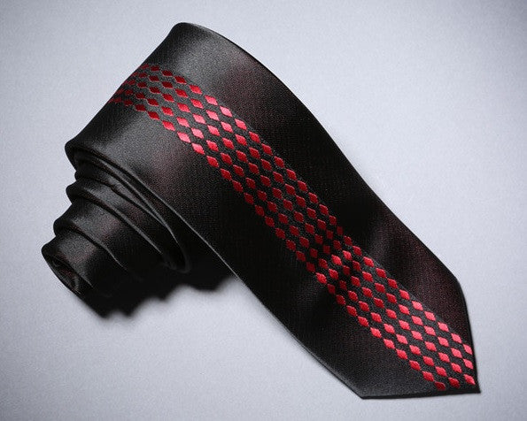 Raindrop-Striped Neck Tie