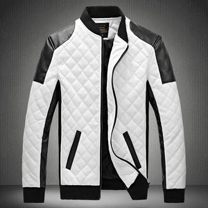 Open image in slideshow, Contemporary Quilted Monochrome Bomber Jacket