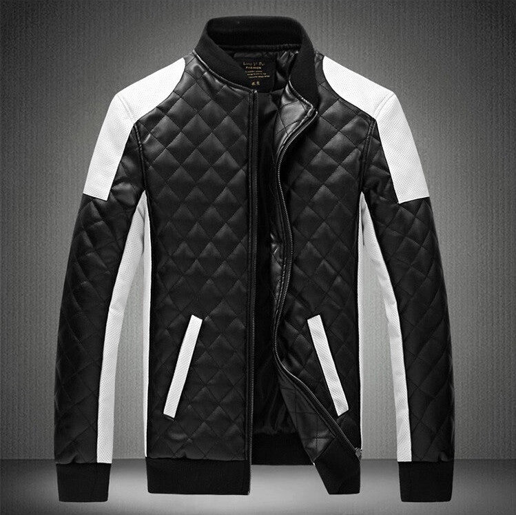 Contemporary Quilted Monochrome Bomber Jacket