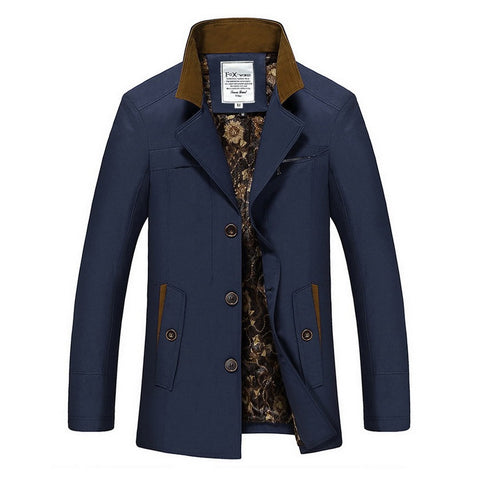 Accented Luxe Royal Peacoat