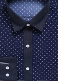 Contemporary Star-dotted Casual Dress Shirt