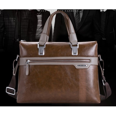 Vintage Brown Adapted Light Messenger Briefcase