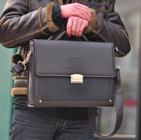 Gold Clipped Men's traditional Briefcase