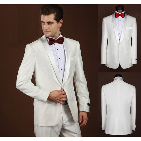2-Piece Tuxedo Taper-Collared Full Dinner Suit Set