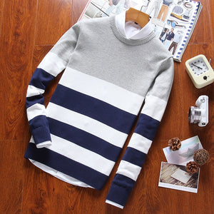 Open image in slideshow, Urban Horizontal-Striped Casual Sweater