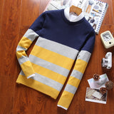 Urban Horizontal-Striped Casual Sweater