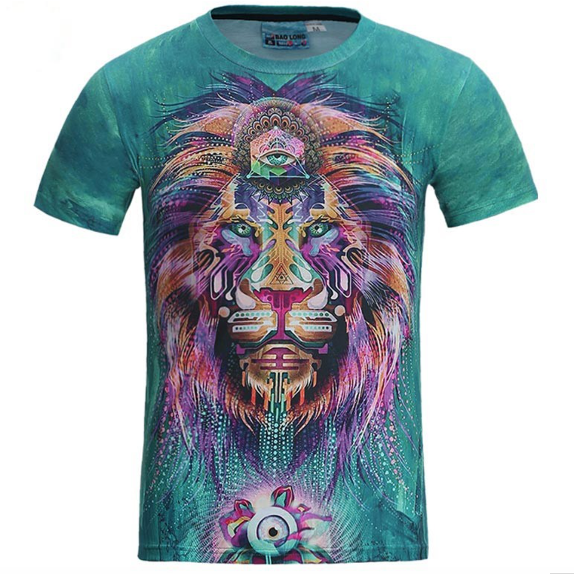 Psychedelic Lion Casual T-Shirt