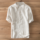 Vintage Linen Casual Lounge Shirt