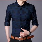 Classy Square Fitted Casual Dress shirt