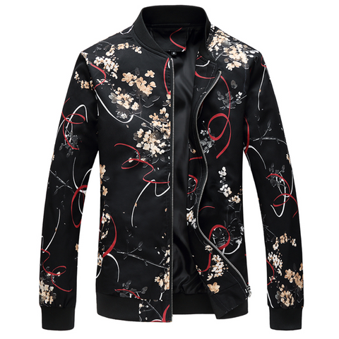 Urban Blackout Floral Casual Jacket