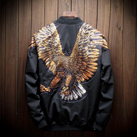 Contemporary Back Eagle Casual Jacket