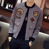 Military Felt Patched Casual Jacket