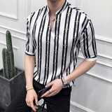 Urban Vertical Striped Printing Shirt