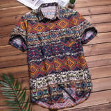 Urban Tropical Summer Short-Sleeved Shirt