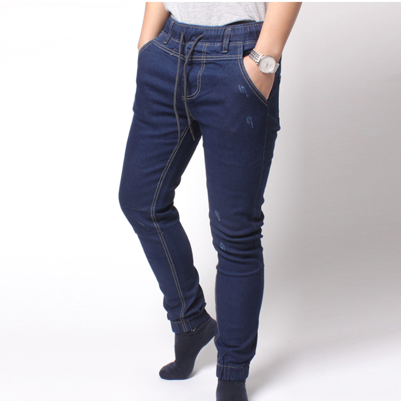 Contemporary Textured Jogger Jeans