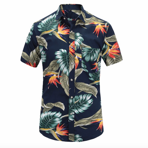 Aloha Summer Printed Short-Sleeved Shirt