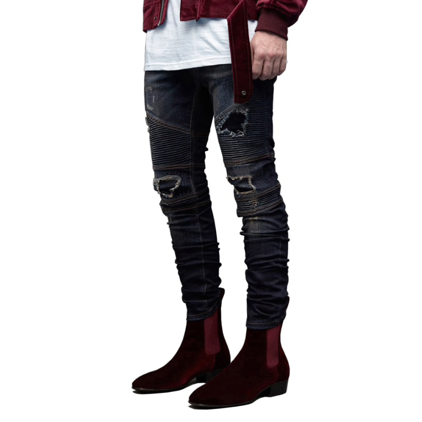 Urban Ripped-Textured Slim Jeans