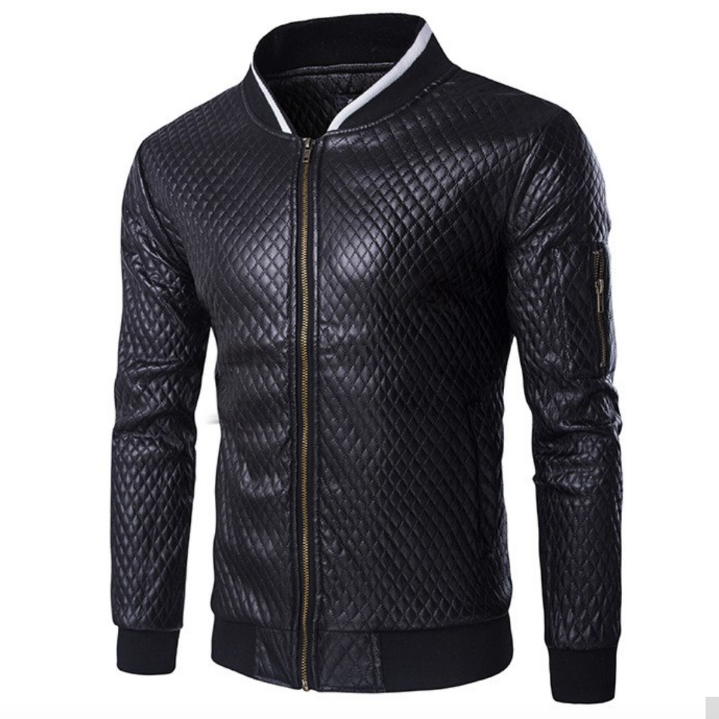 Contemporary Faux Leather Hybrid Jacket