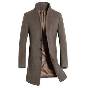 Open image in slideshow, Contemporary Jacquard Luxe Woollen Coat
