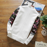 Contemporary Flowers-Sleeved Casual Jacket
