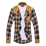 Bold Plaid Urban Casual Dress Shirt