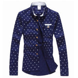 Anchor Patterned Casual Dress Shirt