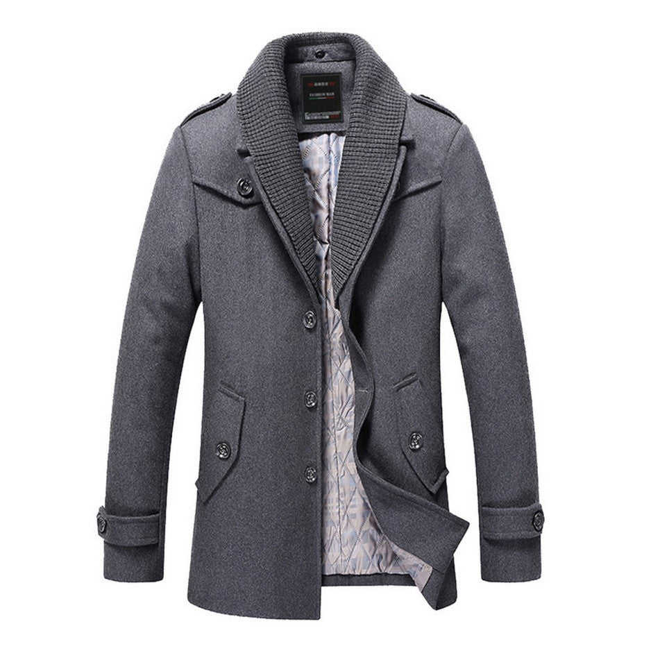 Contemporary Royal-Collared Luxe Winter Coat