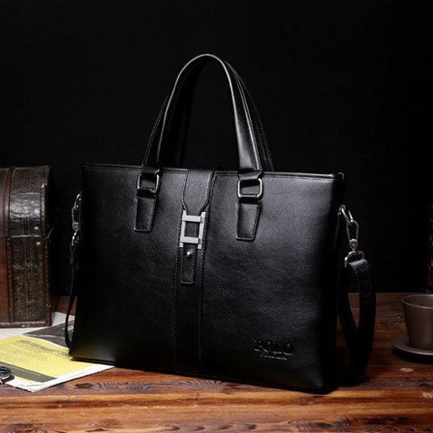 Metropolitan Embossed Leather Business Bag