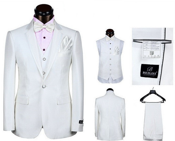 5-Piece Luxury ClassicTuxedo Suit ensemble