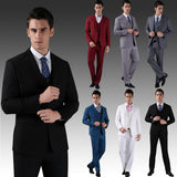 4-piece Classic 1-Button Formal Full Suit set (Jacket, Pant, Vest & Tie)