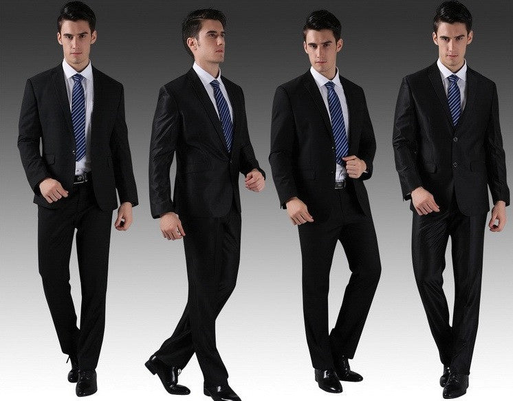 2-Button Standard Fit Contemporary Business Suit set (Jacket + Pant)