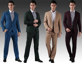 1-Button Custom Fit Contemporary Business Suit set (Jacket + Pant)