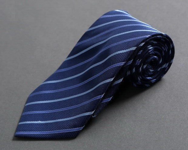 Executive Blue Striped Neck Tie