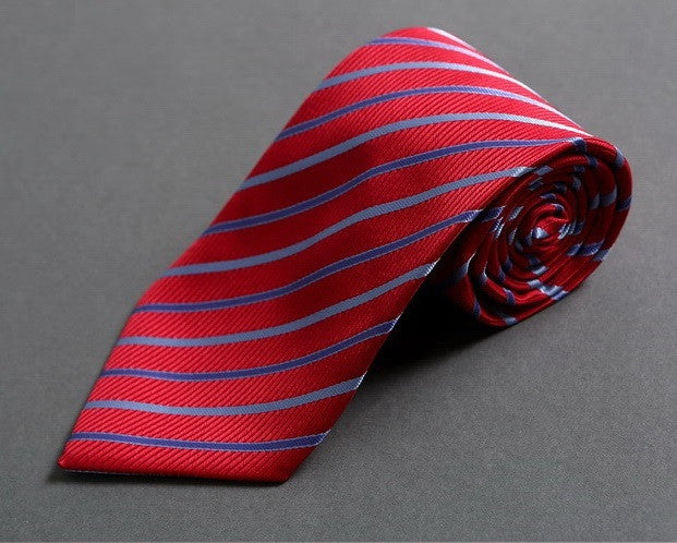 Red-Striped Neck Tie