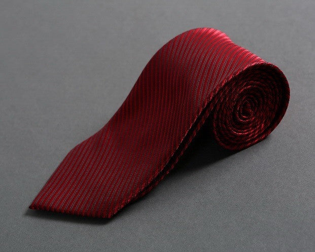Slim-tapered Blood Red Neck Tie