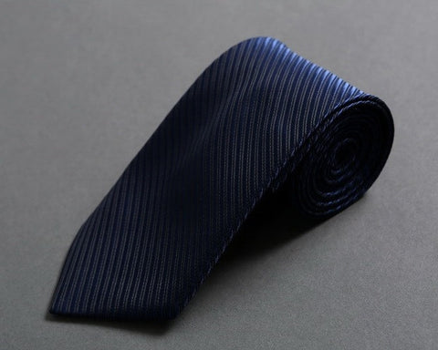 Midnight Blue Slim-Tapered Neck Tie